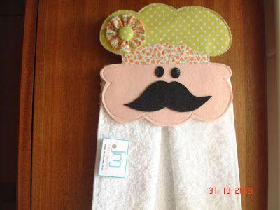 Cozinheiro Chef - porta toalha