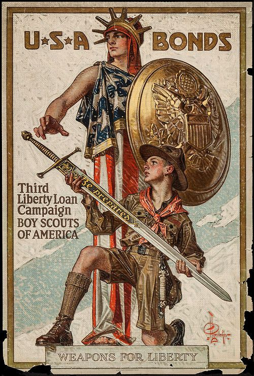 "U.S. Government Printing Office, 1917 ""Weapons for Liberty"" by Joseph Christian Leyendecker"