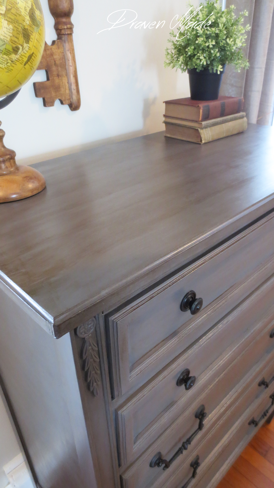 How to Glaze Furniture Bronze Gray Dresser