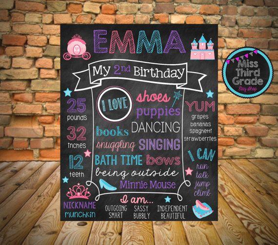 Cinderella Birthday Poster // Princess Birthday by MsThirdGrade