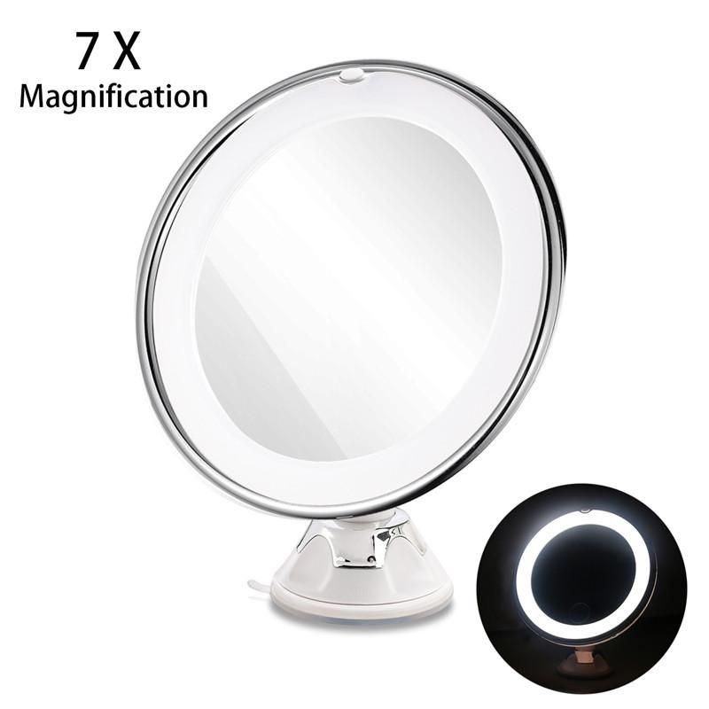 RUIMIO Adjustable 7x Magnification Lighted LED Makeup Mirror Travel Mirror - magnifying makeup mirror