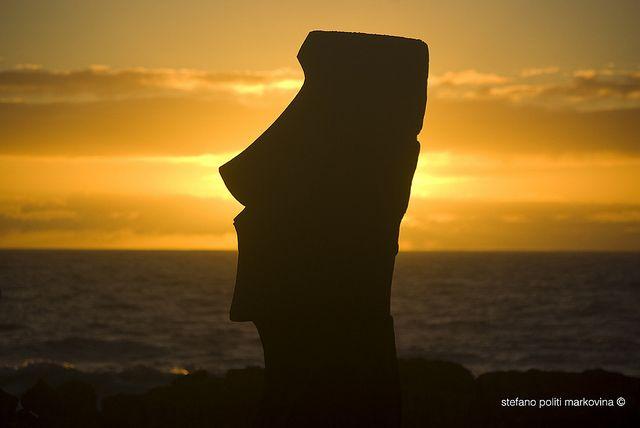 Moai in Rapa Nui