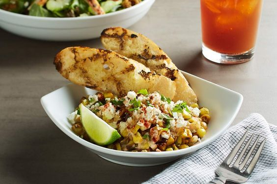 MEXICAN STREET CORN - Creamy sweet corn removed from the cob and