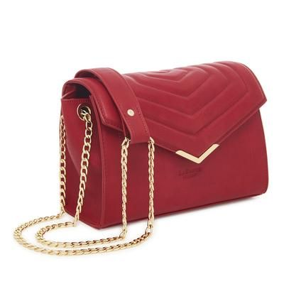 Photo of Red – Kensington Vegan Quilted Cross-Body Bag