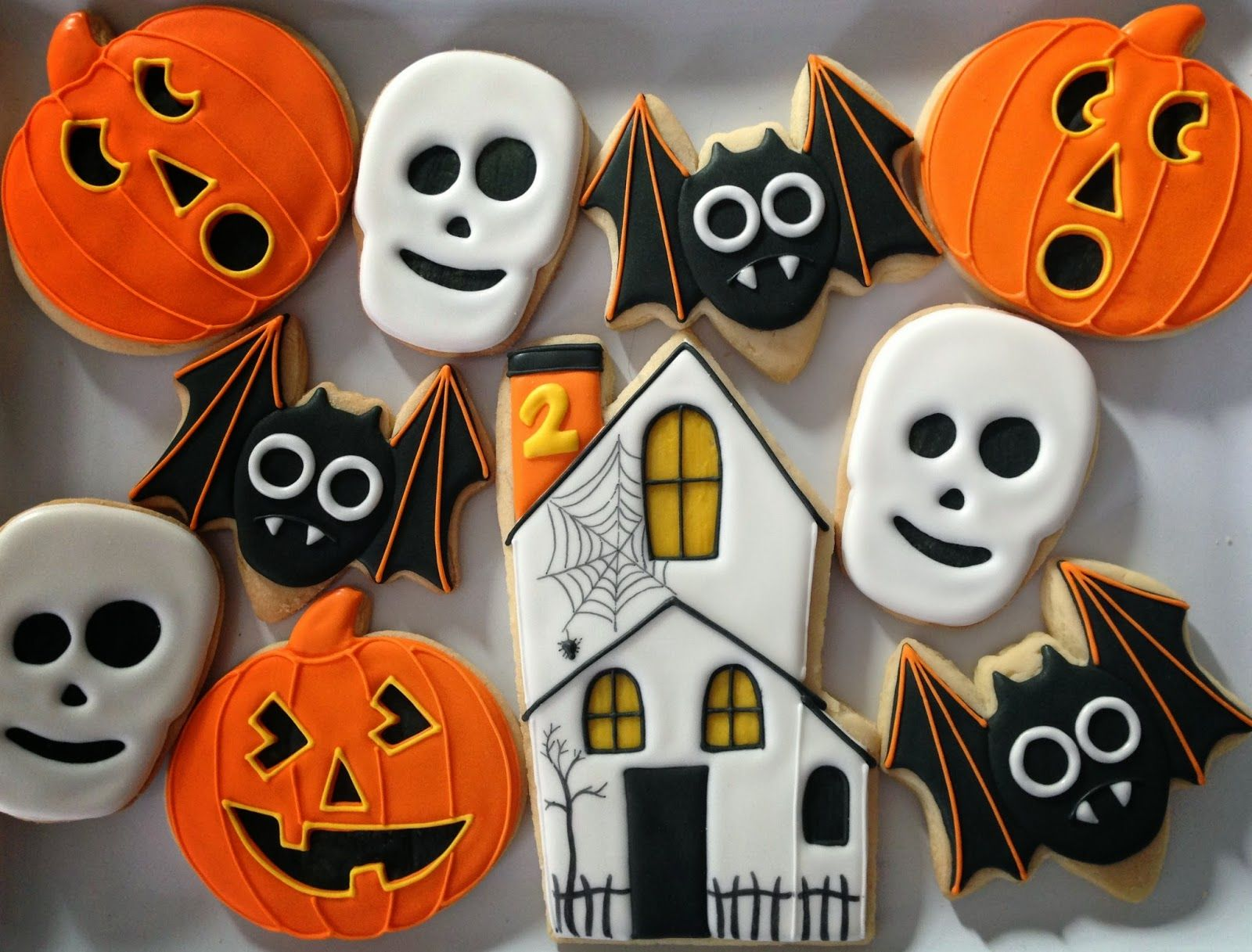 Oh Sugar Events Halloweenies decorated cookies Pinterest - Halloween Decorated Cookies