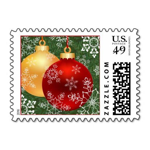 Snowflakes Christmas Postage