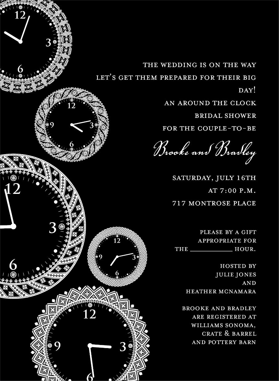 Faces Of Time Black Around The Clock Invitation By Noteworthy