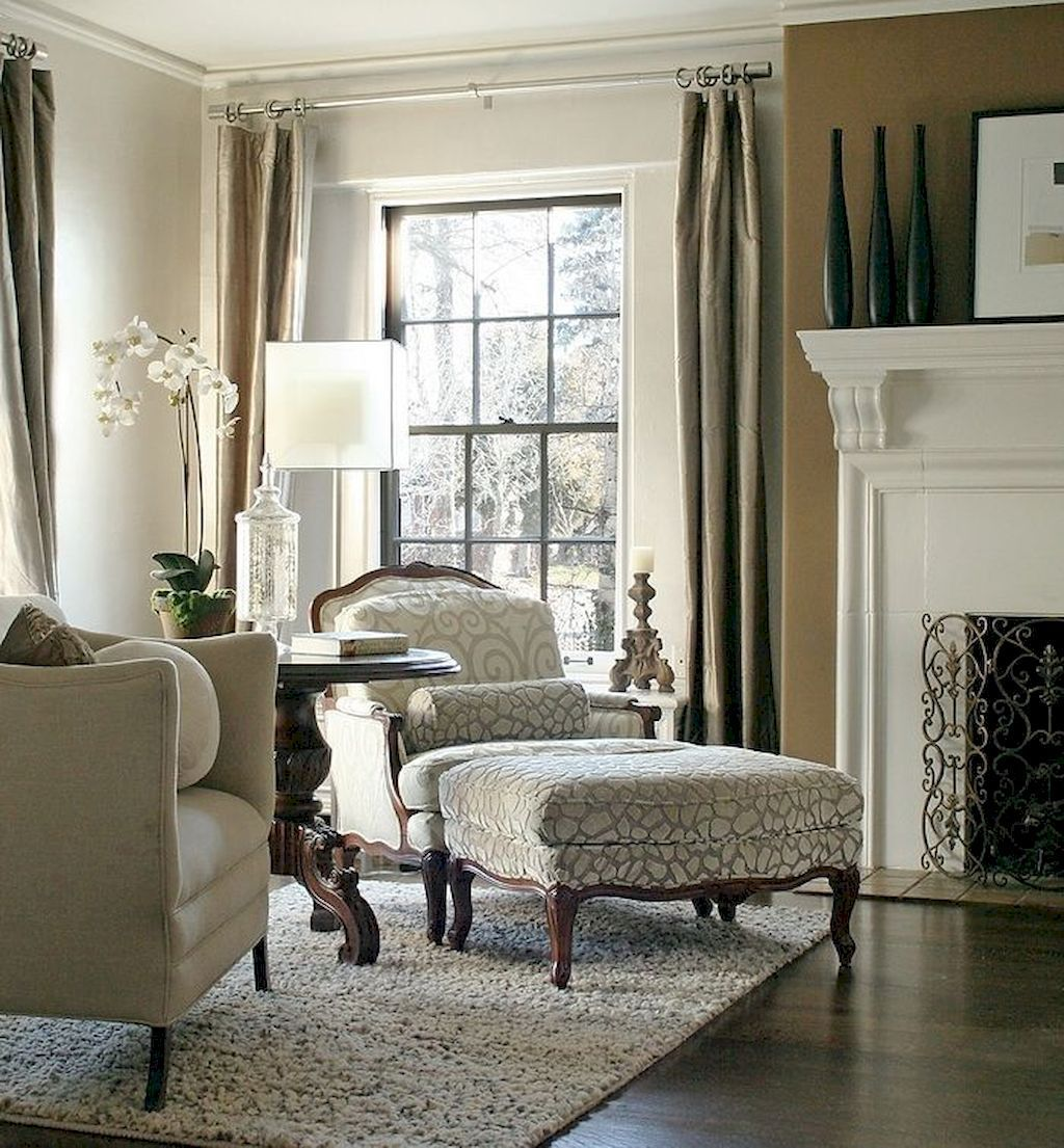 Beautiful French Country Living Room Decor Ideas (15  Salon