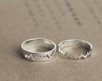 His and her promise ring Couple ring Promise ring for couple