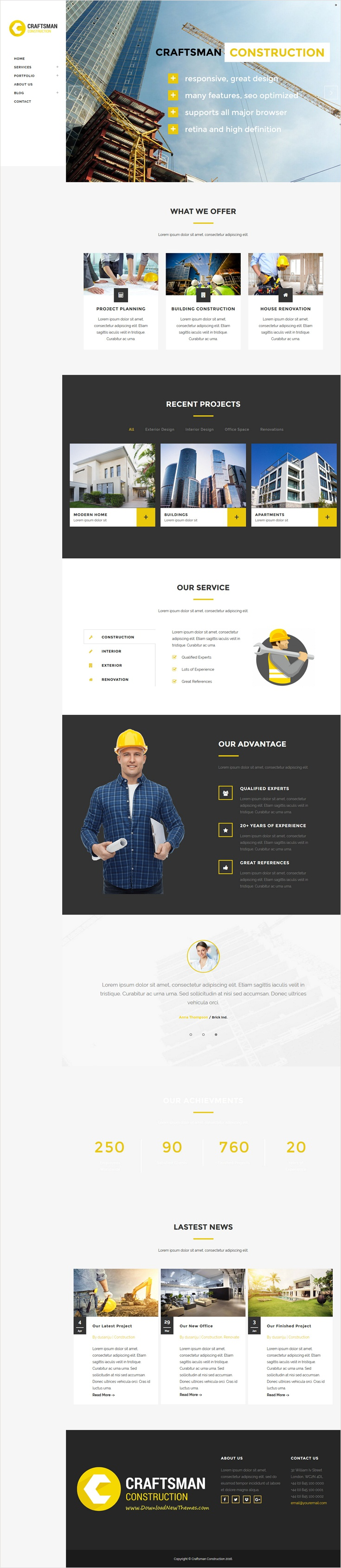 Craftsman Construction is wonderful responsive 2 in 1 WordPress