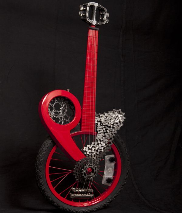 Cool Unusual Guitar  Made from Real Bike Parts