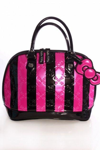 Fuchsia Black Hello Kitty Handbag