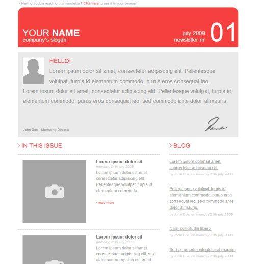 Corporate Newsletter Template V1 Newsletter Designs Pinterest - email newsletter template