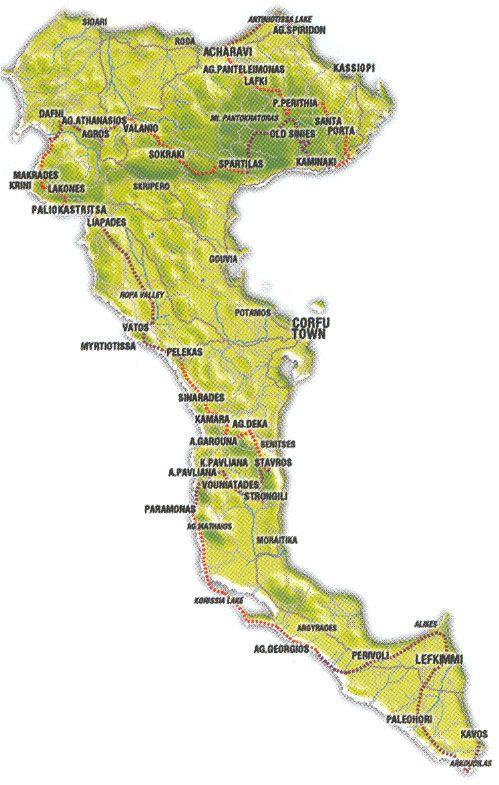 Corfu Trail Map Corfu Pinterest