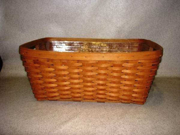 Longaberger Membership Stripe Oval Laundry Basket Liner