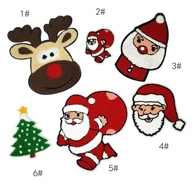Manufacture Custom Cartoon Santa Claus Elk Christmas Tree Decoration Towel Embroidery Find Complete De Christmas Tree Images Custom Cartoons Towel Embroidery