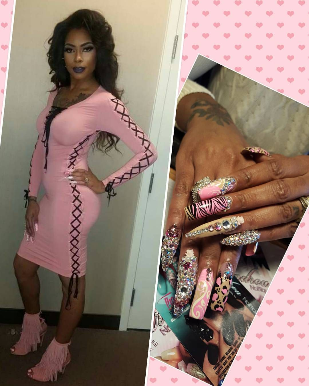 Sissy ain't playing with these folks nails hair makeup toes dress  shoes on fleek baby HAPPY VDAY MY LUV @k_baby901