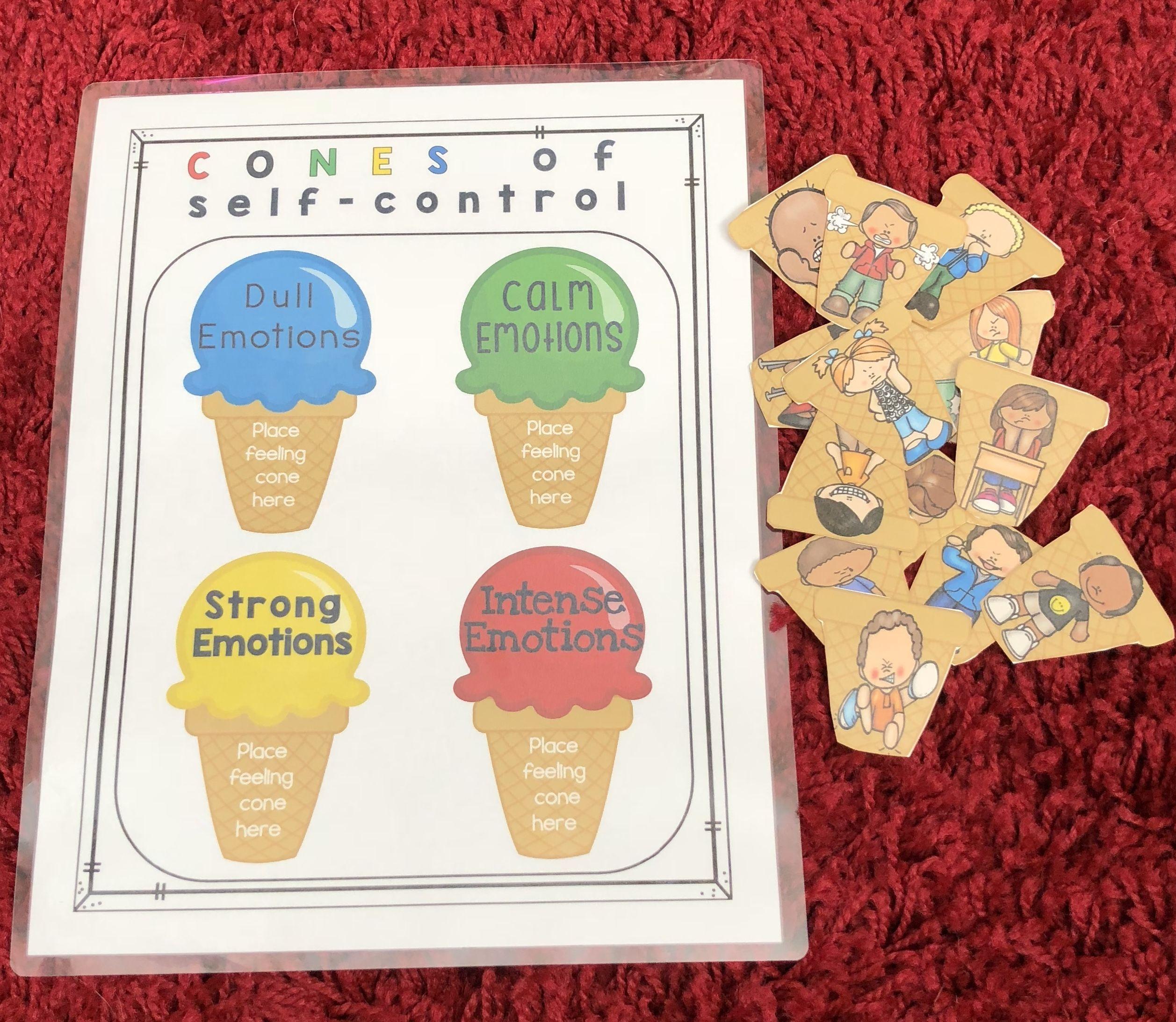 Anger Self Control Activities Cones Of Regulation