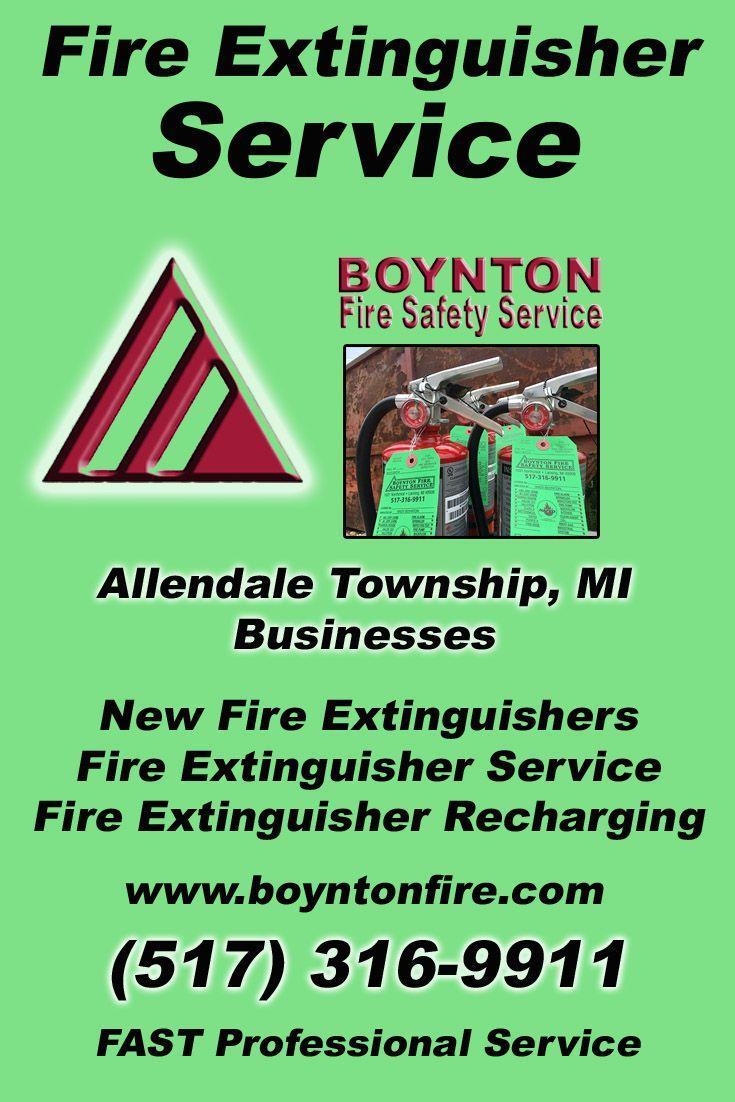Fire extinguisher service allendale township mi 517 316