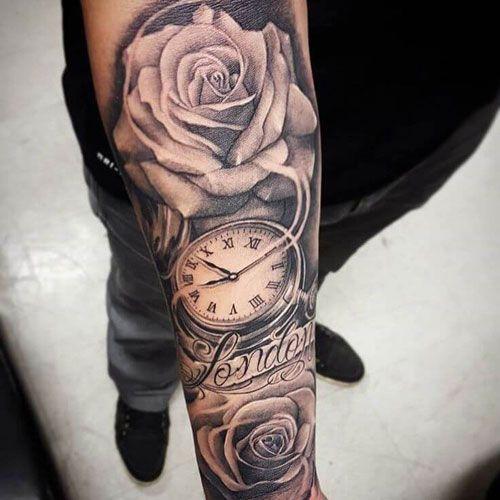 51 Rose Tattoos für Männer 2019 - | Tattoo ideen unterarm
