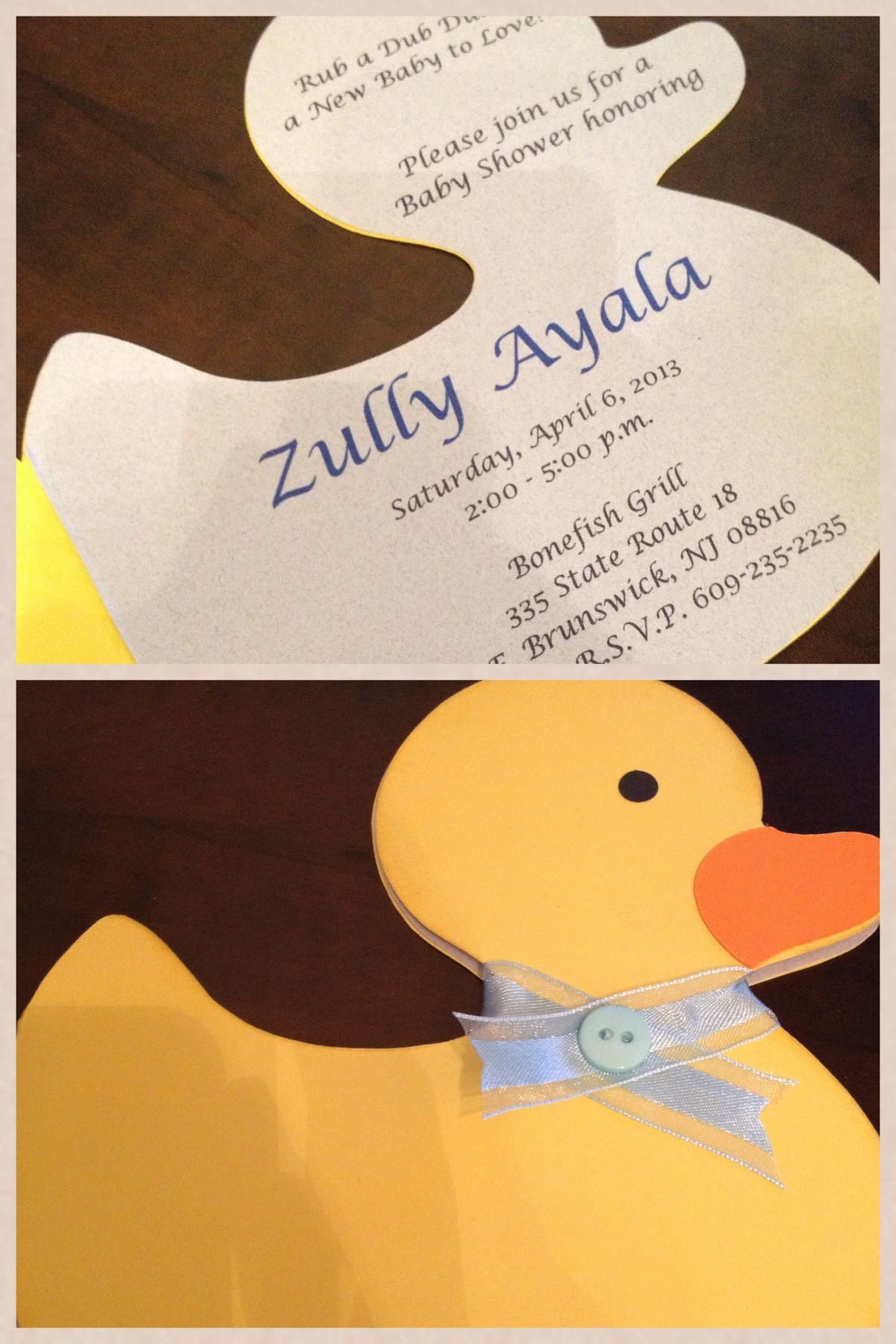 Duck baby shower invitation by Simply Fab & Chic
