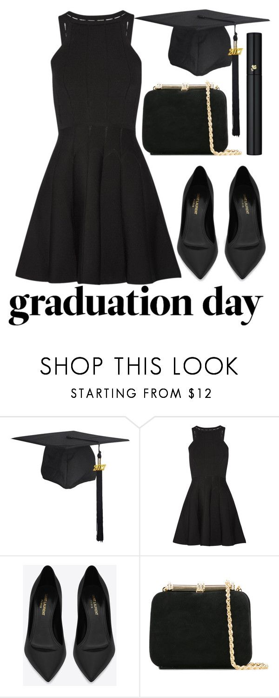 """congrats grad: graduation day style"" by j-n-a ❤ liked on Polyvore featuring Cushnie Et Ochs, Yves Saint Laurent, Loriblu, Lancôme, Graduation, congrats and grad"