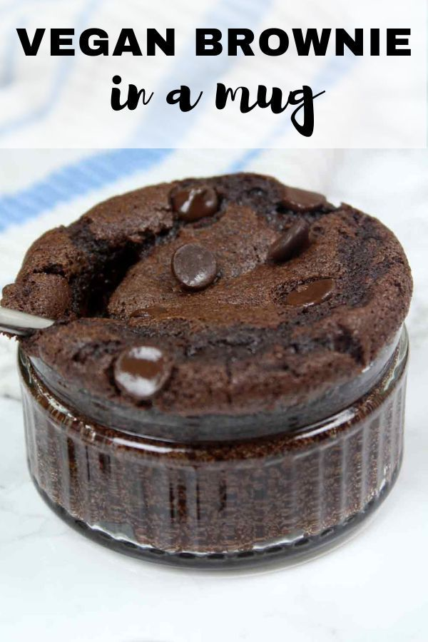 Easy, 7 ingredient vegan brownie in a mug recipe. This ...