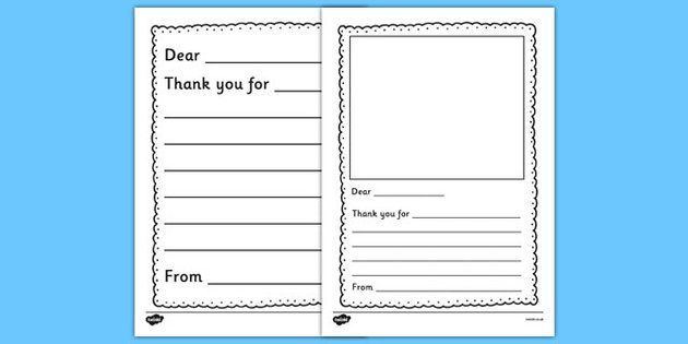 Thank You Letter Writing Template  Ideas For The House