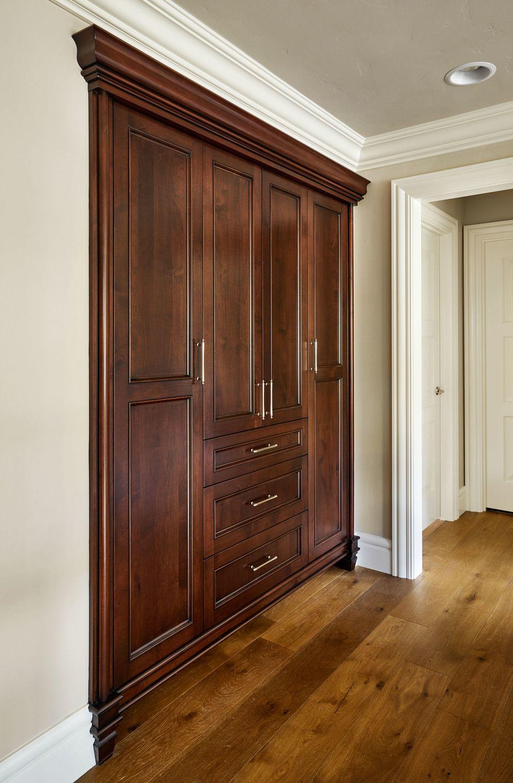 Hallway storage cabinet  Garrison Hullinger  Adeline built in  Interior  Pinterest  Home