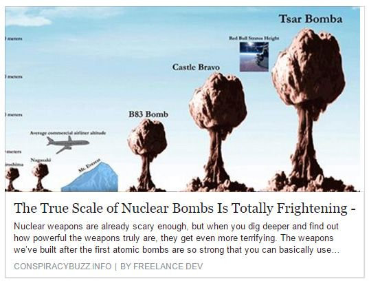 True Scale of Nuclear Bombs.