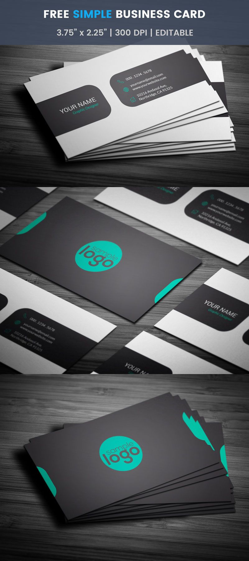 Free Simple Business Card Simple Business Cards Business Cards