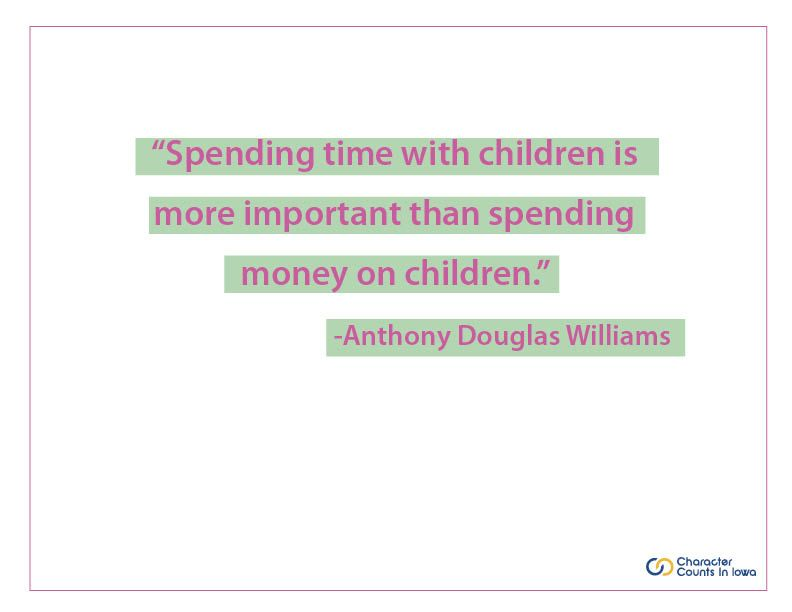Spending time with children is more important than spending