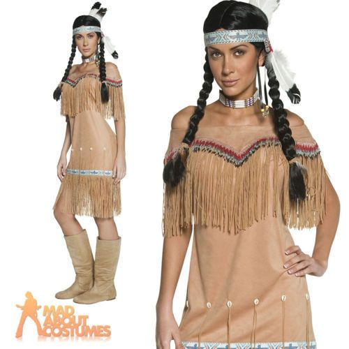 Adult #authentic western indian lady #pocahontas squaw costume #fancy dress new,  View more on the LINK: 	http://www.zeppy.io/product/gb/2/161806271026/