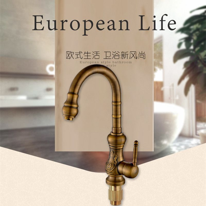 free shipping 360 degree rotation antique kitchen sink faucet with top quality bronze kitchen faucet and free shipping 360 degree rotation antique kitchen sink faucet with      rh   pinterest com
