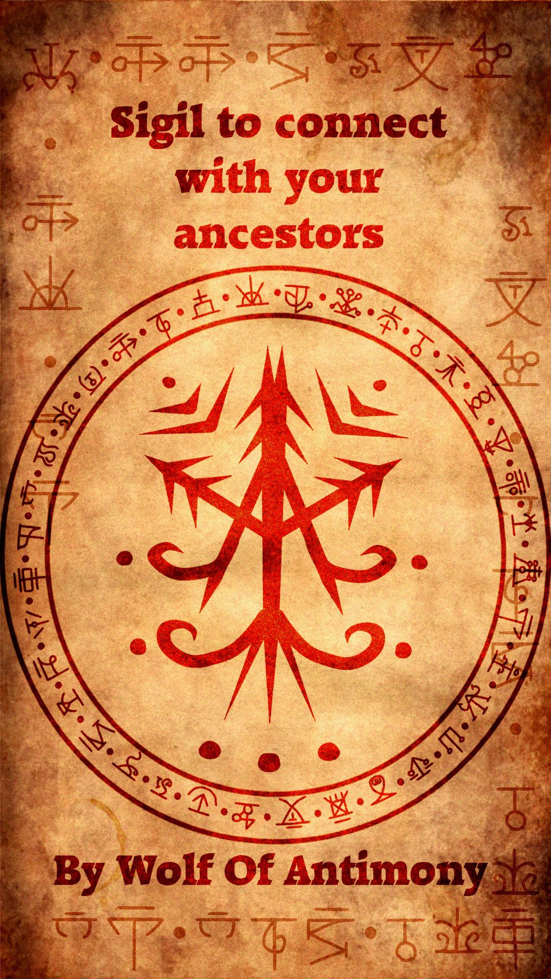 Sigil to connect with your ancestors Witches