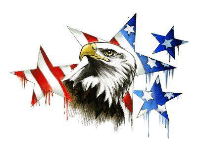 Download Free Patriotic Eagle Stars Tattoo Patriotischer Adler