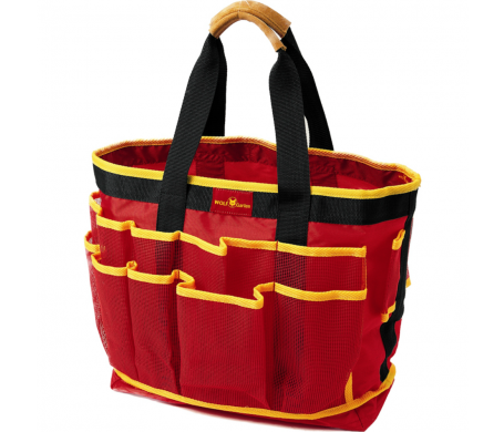 The PERFECT Garden Tool Tote Bag For Your Tools. 18 Mesh Pockets, Generous  Middle