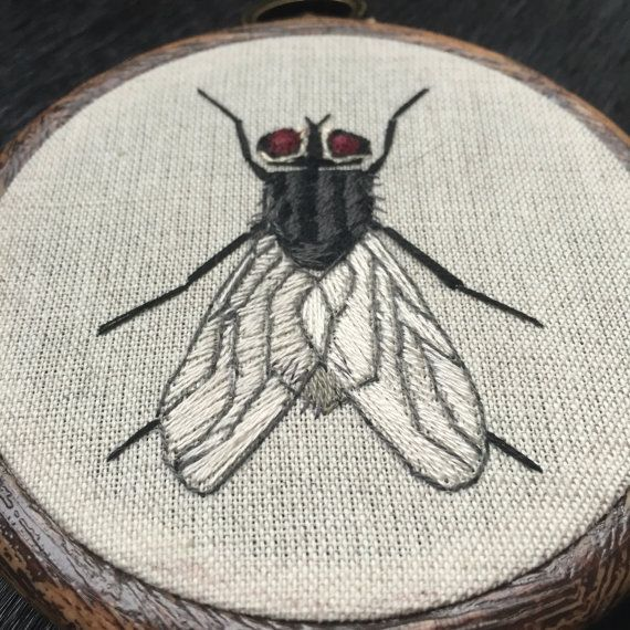 Embroidery hoop, fly