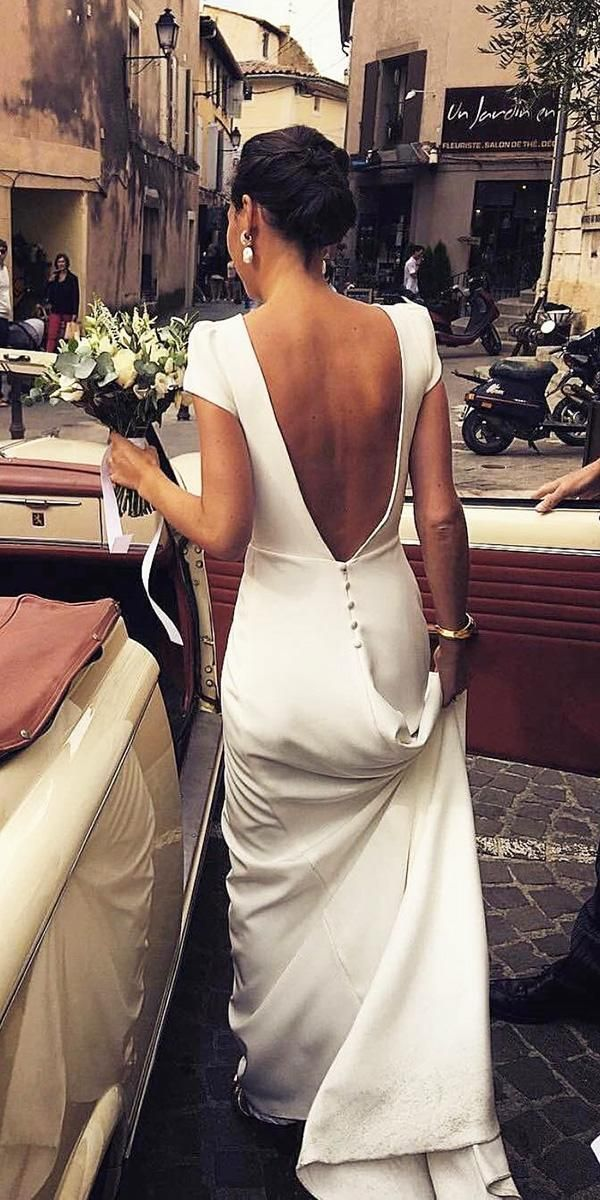 24 Excellent And Elegant Silk Wedding Dresses ❤ silk wedding dresses sheath wi #attireforwedding
