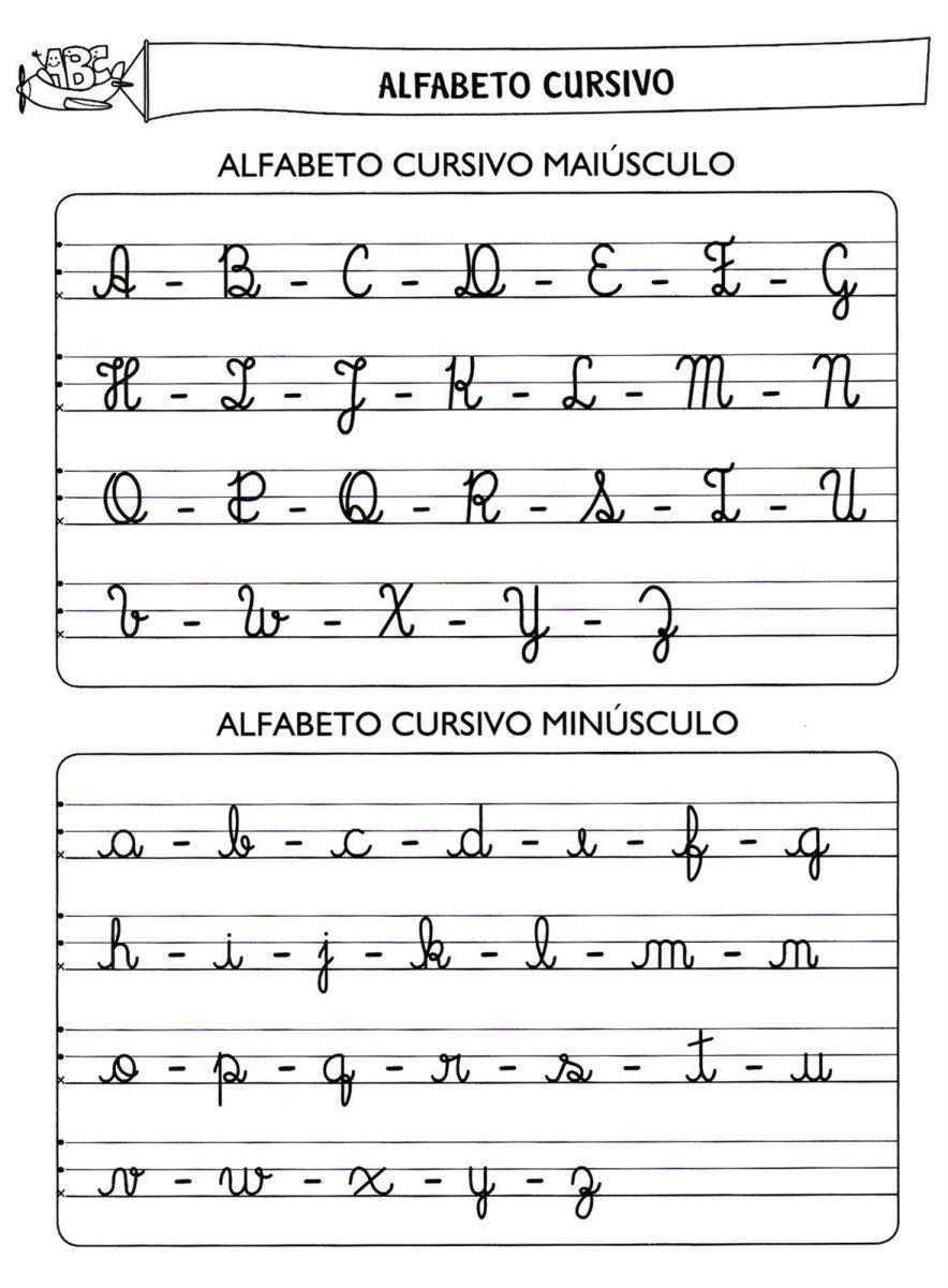 Alfabeto Manuscrito Letra Cursiva 706001 Alfabeto Cursivo