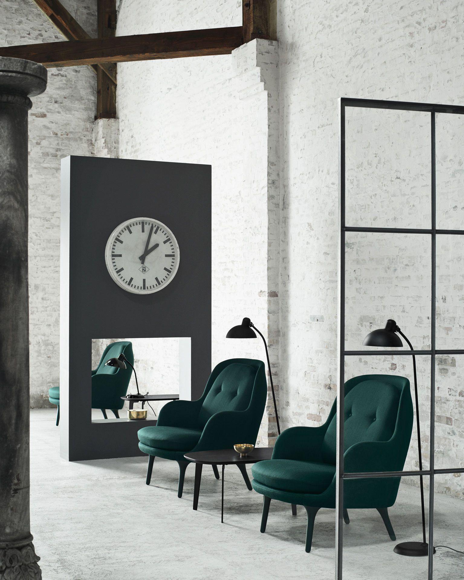 fritz hansen jaime hayon fri chair dark green fabric 1535—1920