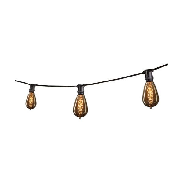 bulbrite black 25 ft outdoor string light 177 a¤ liked on