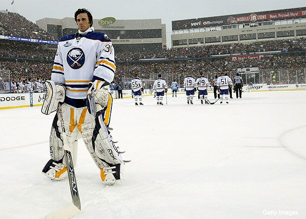 Ryan Miller, Buffalo Sabres, 2008 Winter Classic // There is ...