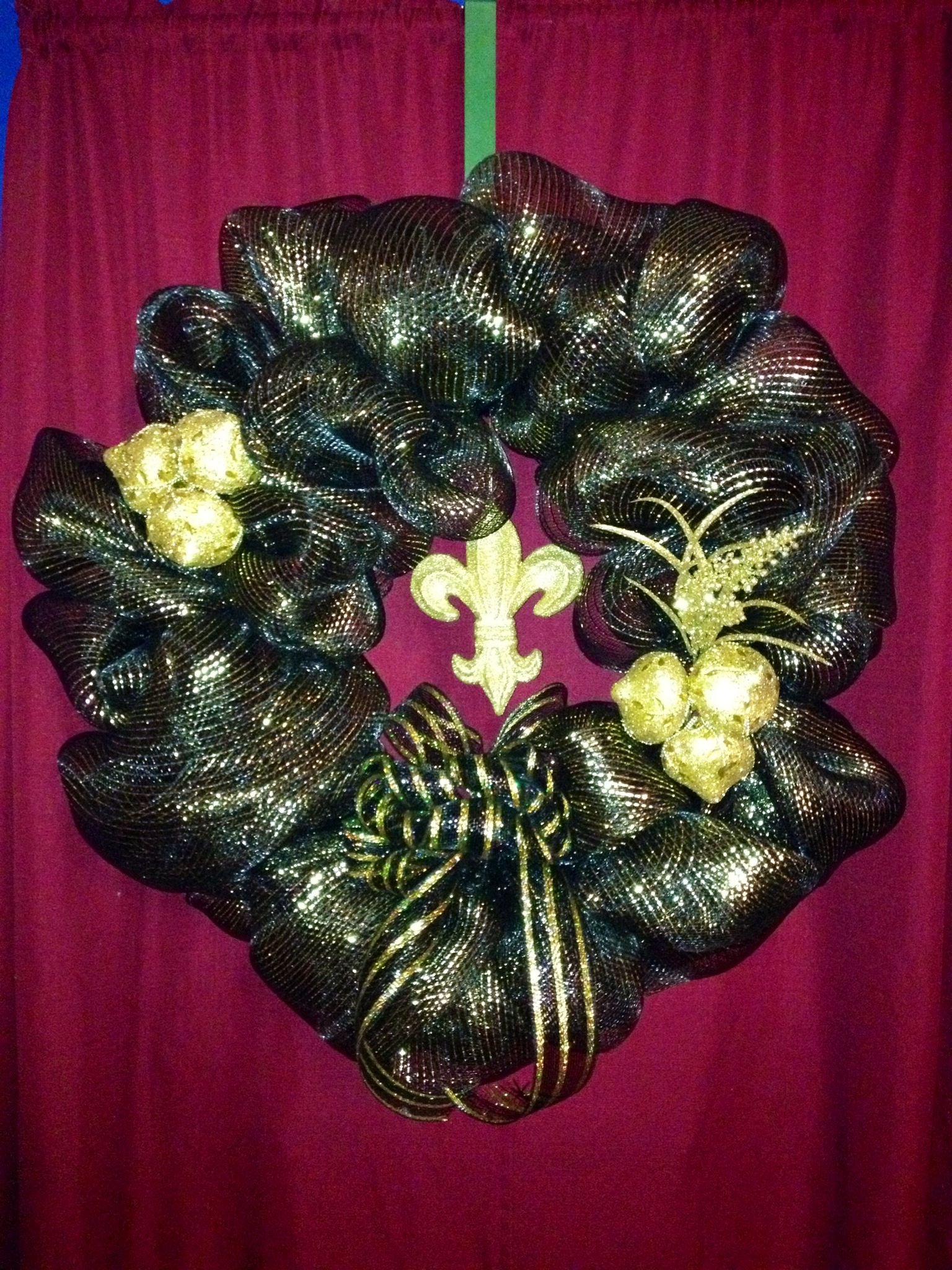 New Orleans Saints Wreath I Made My Friend Tina For Her Birthday