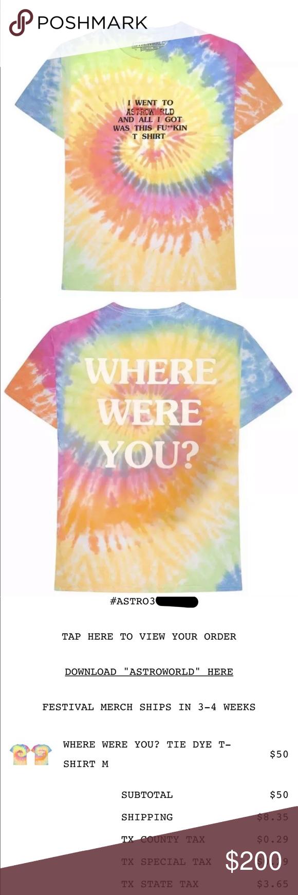 Travis Scott Astroworld Tie Dye Shirt Tie Dye Tie Dye Shirt Dye Shirt [ 1740 x 580 Pixel ]