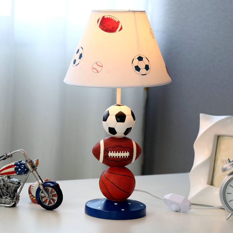 Creative Fashion Sports Fan Healthy Resin Fabric Led E27 Dimmiable Table Lamp For Children S Present Bedroom B Kid Room Decor Table Lamps For Bedroom Book Lamp