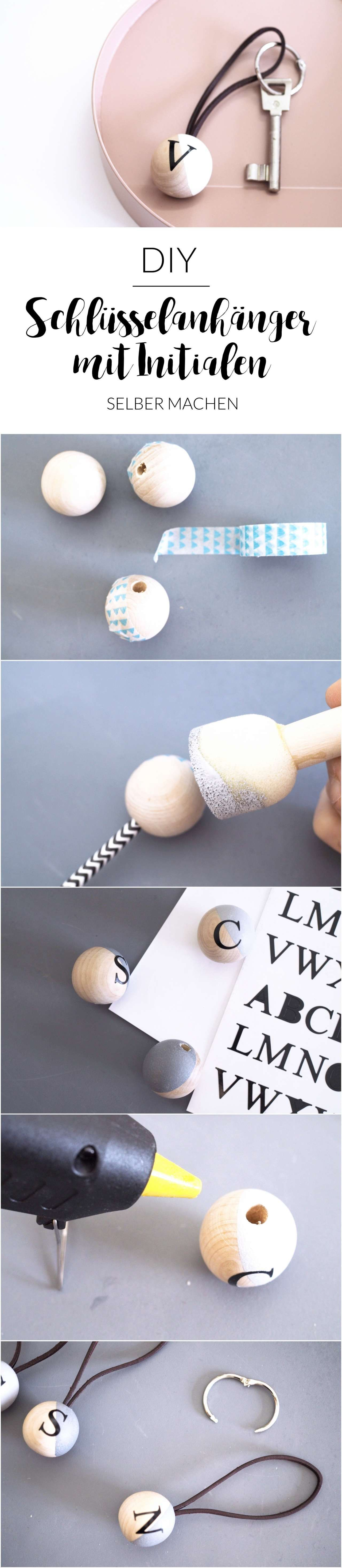 DIY Schlüsselanhänger mit Initialen