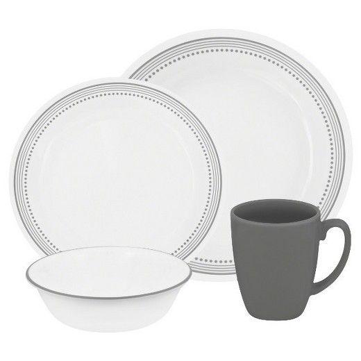 Corelle® Livingware™ 16pc Dinnerware Set Mystic Grey | Grey dinnerware, Dinnerware sets, Corelle ...
