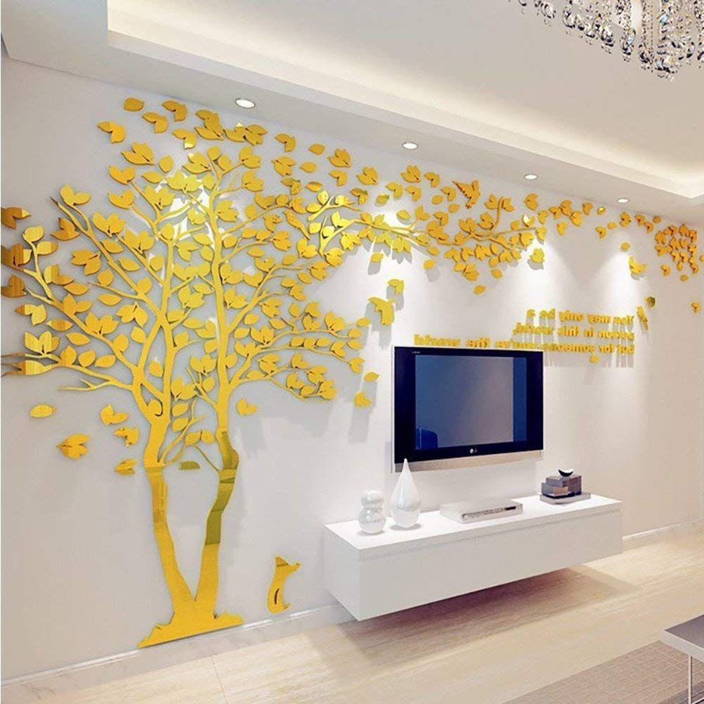 Diy 3d Riesiger Baum Paar Wandtattoos Wandaufkleber Kristall Acryl Malen Wanddeko Wandkunst M Silber Links A Wandtattoos Wandbild Wand Aufkleber Fur Wande