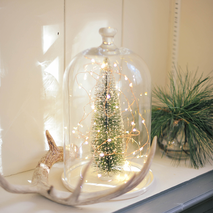 Diy holiday sparkle glass dome glasglocke dekorieren - Glasglocke dekorieren ...